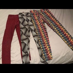 3 pairs girls lularoe s/m leggings